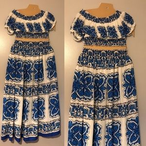 Gorgeous skirt & top set, size 1x, runs small 14